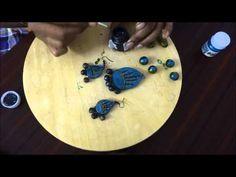 Terracotta Jewellery Making Part 2 Terracotta Jewellery Making, Terracota Jewellery, Jewelry Making Tutorials, Clay Tutorials, Arts And Crafts, Diy Crafts, Clay Art, Clay Jewelry, 3 D