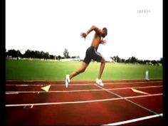 Asafa Powell Slow Motion Sprint / 100 mètres ralenti