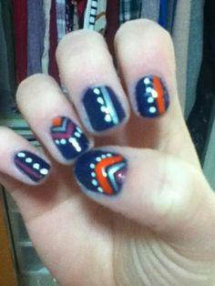 aztec nails :)