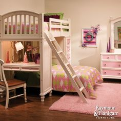 Build-A-Bear Collection | Loft bed and desk combination. by ruxi