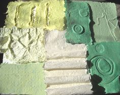 Handmade Paper Sheet Green Recycled Paper by ThresholdPaperArt, $9.00