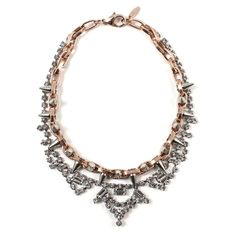 Joomi Lim - Image of Metal-Luxe Crystal & Spike Necklace - Rose Gold/Silver Spikes