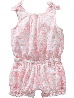 Graphic Patterned  Rompers for Baby