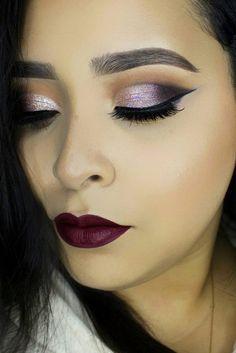Christmas Makeup: Sparkles, Smokey, and Berry ★ See more: http://glaminati.com/christmas-makeup-sparkl-smokey-berry/