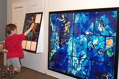 Kohl Children's Museum brings back their Chagall for Children exhibit, which introduces children to the work of Chagall - with hands on lessons in many of his techniques.