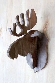 Recycled Wooden Deer Head Wall Mount Wall Mount