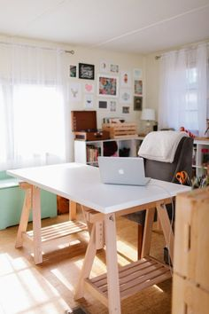 modern office in mobile home