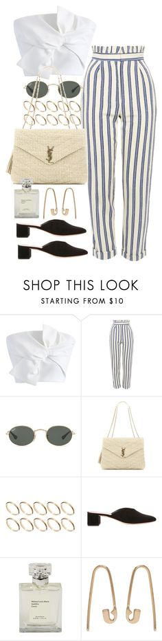 """""""Untitled #10605"""" by nikka-phillips ❤ liked on Polyvore featuring Chicwish, Topshop, Ray-Ban, Yves Saint Laurent, ASOS, Loeffler Randall and Lauren Klassen"""
