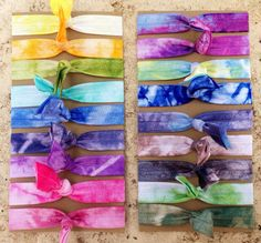 SALE - Elastic Hair Ties - One of Each Color (18) - Tie Dye - Ponytail Holders on Etsy, $12.00