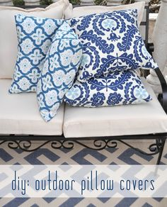 diy outdoor pillow cover tutorial from Centsational Girl....Kate makes sewing easy!