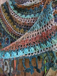 Crochet Noro shawl 2 by yarn jungle,