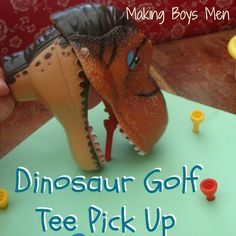 Dinosaur golf tee pick up