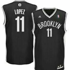 5197e61e7864 adidas Brook Lopez Brooklyn Nets Black Replica Road Jersey - NBA S