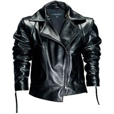 Leka - Black Leather Jacket ($580) ❤ liked on Polyvore featuring outerwear, jackets, coats, asymmetrical zip jacket, real leather jackets, asymmetrical zipper jacket, long sleeve jacket and genuine leather jackets