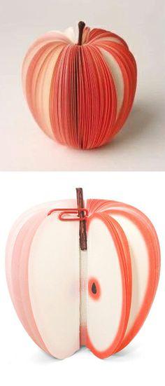 Apple (slice) Memo Pad // I love this! So sweet... #productdesign