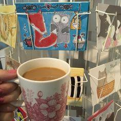 H u o m e n T a ❤️❤️☕️ #huomenta #lauantai #kahvi #ireneellenpostikortit Tableware, Instagram, Dinnerware, Dishes