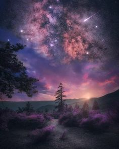 Most Magical Landscape and Nature Photos - Page 3 of 3 - Galaxy Wallpaper, Nature Wallpaper, Wallpaper Backgrounds, Landscape Photography, Nature Photography, Photography Photos, Ciel Nocturne, Purple Sky, Old Images