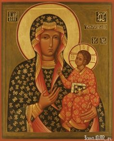 Икона Божией Матери - A Russian icons of Our Lady of Chestochowa