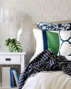 bedroom pattern mix