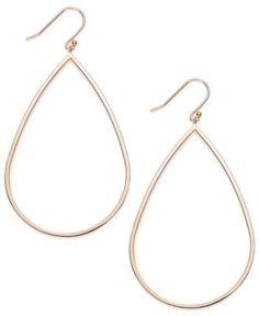 14k Rose Gold Vermeil Earrings, Teardrop Dangle Earrings