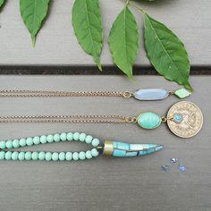 STUDIO NOLDS sieraden - new mint necklaces Turquoise Necklace, Handmade Jewelry, Studio, Handmade Jewellery, Jewellery Making, Studios, Diy Jewelry, Craft Jewelry, Handcrafted Jewelry