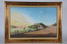 """ALEXANDRE SANTIAGO (1968) - """"Baseado na obra de Pieter G. Bertichen - Entrada do Rio de Janeiro com Morro da Glória - 1847"""" - ost - 60 x 90"""