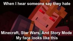 So true. I love all of Star Wars, Minecraft, and Story Mode