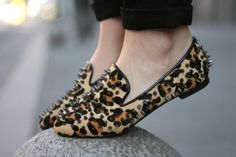 #loafers #leopard #spikes #studs #shoes