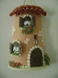 Risultati immagini per oggetti di natale in pasta di mais Christmas Decorations For The Home, All Things Christmas, Christmas Home, Christmas Crafts, Christmas Ornaments, Clay Houses, Miniature Houses, Tile Crafts, Paper Crafts