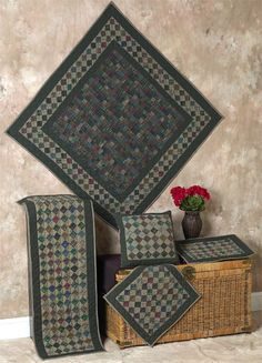 Grandma's Square Dark Quilts | Choices Quilts offers Grandma's Square Dark Quilts handmade for you! You can shop online or call us toll-free @ 1-800-572-2070 or 770-641-9700.
