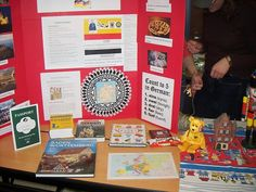 World Thinking Day - Germany booth (like the idea of using a tri-fold for display