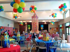 Resultado de imagen para decoracion globos circo