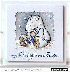 Polar Bear Christmas Card Idea