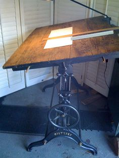 DRAFTING TABLE CAST IRON STAND