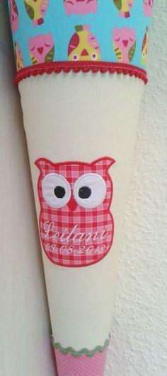 Schultüten - Schultüte Eule Kaja - ein Designerstück von B-stickt bei DaWanda