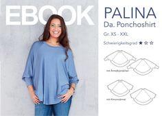 Nähanleitungen Mode - PALINA - Da. Ponchoshirt eBook - ein Designerstück von DalounyDesigns bei DaWanda