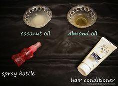 DIY heat protectant spray for hair