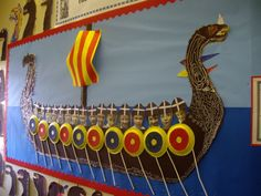Delph Side Community Primary School - The Vikings Class Displays, School Displays, Classroom Displays, Primary History, Teaching History, New Classroom, Classroom Themes, Vikings Ks2, Display Boards For School