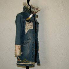 upcycled clothing upcycled denim jacket ~ Might ... | My Crafty Side