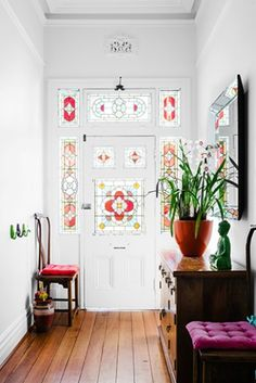 Beautiful cheap gun safes in Entry Victorian with Indoor Plants next to Main Door Design alongside Interior Columns and House Front Design Main Door Design, House Front Design, Entrance Design, Interior Columns, Interior Design, Porch Interior, Eclectic Design, Eclectic Style, Leadlight Windows