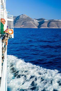 Approaching Aegiali, Amorgos, Cyclades Islands, Greece