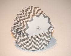 24 Gray Chevron Greaseproof Cupcake Liners Cupcake Papers Grey Party Cups Baking Cups Muffin Cups Baby Shower Boy Girl Birthday Supplies via Etsy