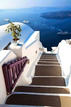Caldera Steps in Santorini, Greece