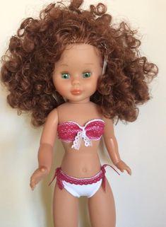 "Vestidos Para Nancy ""El Costurero De Chus"": Bikinis American Girl, Nancy Doll, Barbie, Sarah Kay, Bikinis, Swimwear, Couture, Doll Clothes, Dolls"
