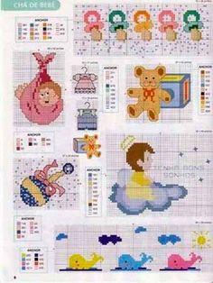 Resultado de imagen para bordados de punto de cruz para niños