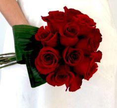 Ramos de novia 2016: fotos ideas originales - Ramos de novias rosas rojas