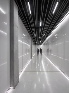 Image 9 of 28 from gallery of The BLOX / DAM. Photograph by Filip Šlapal Lobby Interior, Interior Lighting, Lighting Design, Interior Architecture, Lighting Ideas, Interior Design Magazine, Office Interior Design, Interior Decorating, Corridor Lighting