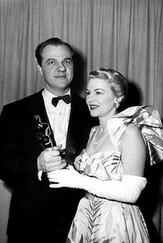 """1952 Oscars: Karl Malden, Best Supporting Actor 1951 for """"A Streetcar Named Desire"""" with Claire Trevor"""