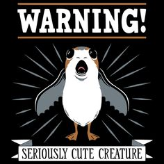 Some creatures are so cute that they need to come with an official warning. Star Wars Film, Star Wars Art, Starwars, Darth Vader, Star Wars Humor, Disney Star Wars, Love Stars, Film Serie, Cute Creatures