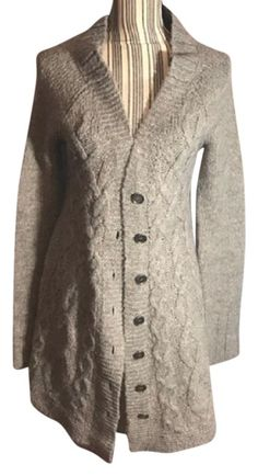 23703347 Free People Gray Collection Cardigan Size 6 (S) 65% off retail. Cable Knit  ...